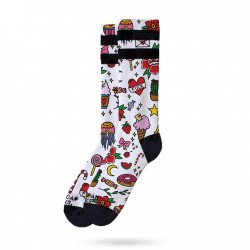 Chaussette Rosey Jones Tatoo Girl Mid High AMERICAN SOCS