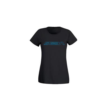 Tee Shirt Black / Bleu Woman SEBA